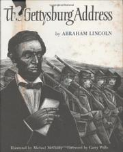 Book Cover for THE GETTYSBURG ADDRESS