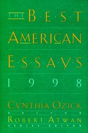 Book Cover for THE BEST AMERICAN ESSAYS 1998