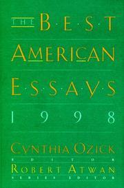THE BEST AMERICAN ESSAYS 1998 by Cynthia Ozick