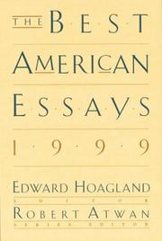 Cover art for THE BEST AMERICAN ESSAYS 1999