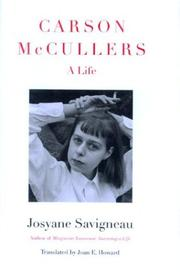 CARSON McCULLERS by Josyane Savigneau