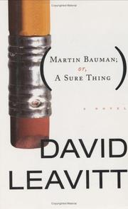 MARTIN BAUMAN; by David Leavitt