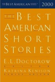 Cover art for THE BEST AMERICAN SHORT STORIES 2000