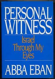 PERSONAL WITNESS by Abba Eban
