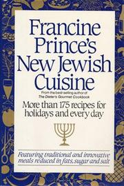 FRANCINE PRINCE'S NEW JEWISH CUISINE by Francine Prince