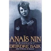 Cover art for ANAIS NIN