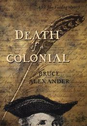 Cover art for DEATH OF A COLONIAL