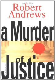 Cover art for A MURDER OF JUSTICE