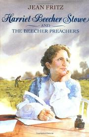 Book Cover for HARRIET BEECHER STOWE AND THE BEECHER PREACHERS