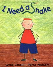Book Cover for I NEED A SNAKE