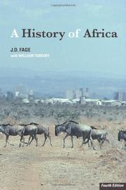 A HISTORY OF AFRICA by J. D. Fage