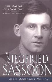SIEGFRIED SASSOON by Jean Moorcroft Wilson