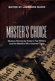 MASTER'S CHOICE by Lawrence Block