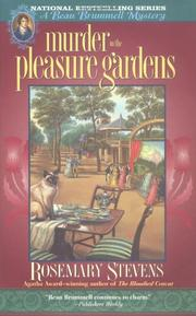 MURDER IN THE PLEASURE GARDENS by Rosemary Stevens