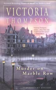 Book Cover for MURDER ON MARBLE ROW