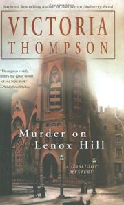 MURDER ON LENOX HILL by Victoria Thompson