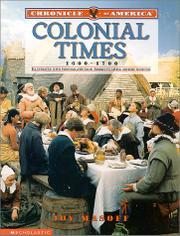 COLONIAL TIMES, 1600-1700 by Joy Masoff