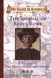Cover art for THE JOURNAL OF RUFUS ROWE