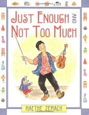 Cover art for JUST ENOUGH AND NOT TOO MUCH