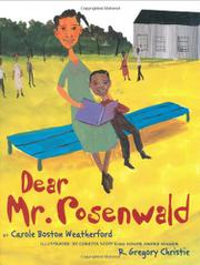 DEAR MR. ROSENWALD by Carole Boston Weatherford