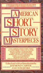 Cover art for AMERICAN SHORT STORY MASTERPIECES
