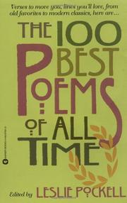 Book Cover for THE 100 BEST POEMS OF ALL TIME