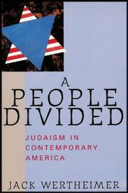 A PEOPLE DIVIDED by Jack Wertheimer