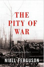 Cover art for THE PITY OF WAR