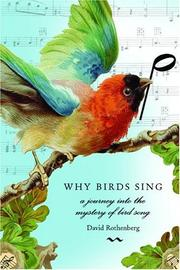 WHY BIRDS SING by David Rothenberg