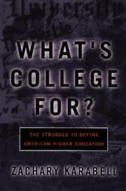 Book Cover for WHAT'S COLLEGE FOR?