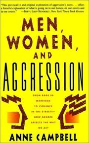 MEN, WOMEN, AND AGGRESSION by Anne Campbell