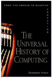 Book Cover for THE UNIVERSAL HISTORY OF COMPUTING