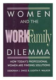 Cover art for WOMEN AND THE WORK/FAMILY DILEMMA