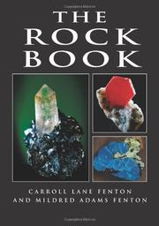THE ROCK BOOK by Carroll Lane & Mildred Adams Fenton