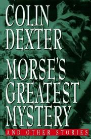 Cover art for MORSE'S GREATEST MYSTERY