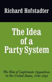 Cover art for THE IDEA OF A PARTY SYSTEM