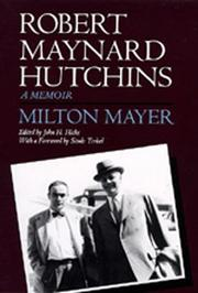 Book Cover for ROBERT MAYNARD HUTCHINS
