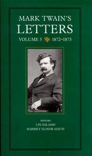 MARK TWAIN'S LETTERS by Mark Twain