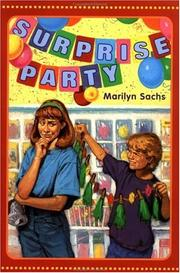 SURPRISE PARTY by Marilyn Sachs