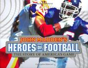 Book Cover for JOHN MADDEN'S HEROES OF FOOTBALL