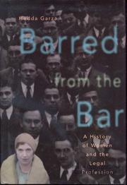 BARRED FROM THE BAR by Hedda Garza