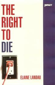 Cover art for THE RIGHT TO DIE