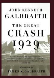 THE GREAT CRASH- 1929 by John Kenneth Galbraith