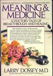 Book Cover for MEANING AND MEDICINE
