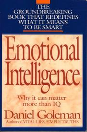 Book Cover for EMOTIONAL INTELLIGENCE