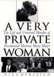 Cover art for A VERY PRIVATE WOMAN