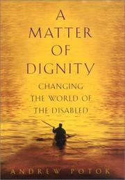 Book Cover for A MATTER OF DIGNITY