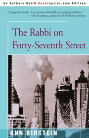THE RABBI ON FORTY-SEVENTH STREET by Ann Birstein