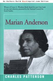 MARIAN ANDERSON by Charles Patterson
