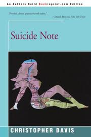SUICIDE NOTE by Christopher Davis